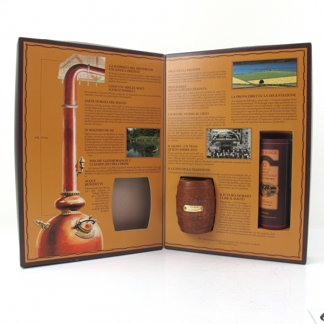 *Front Pic Glenmorangie 10 Year Old Gift Pack / Includes Miniature and Paperweight