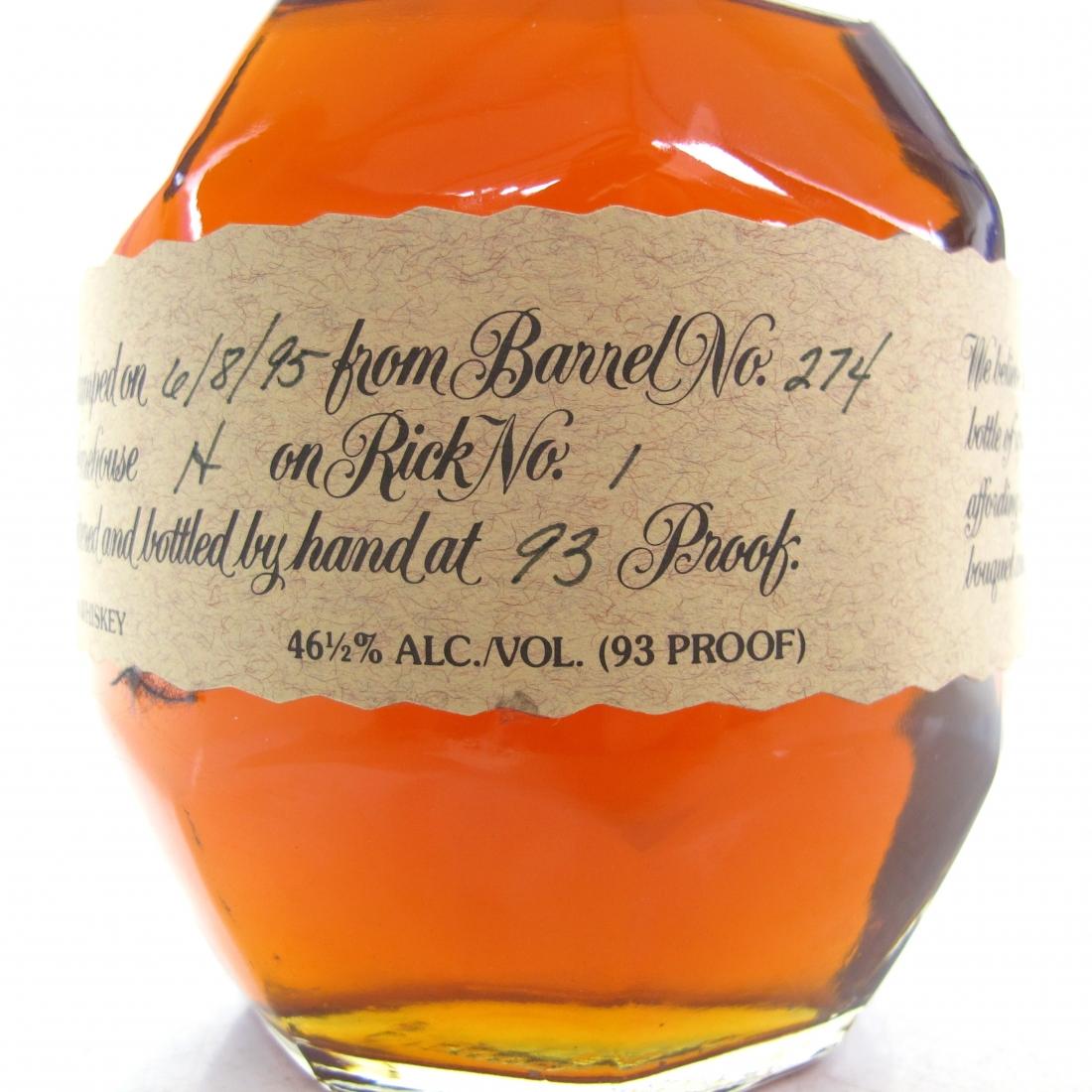 Blanton's Single Barrel Dumped 1995