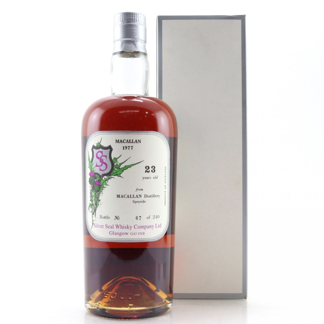 Macallan 1977 Silver Seal 23 Year Old / First Bottling