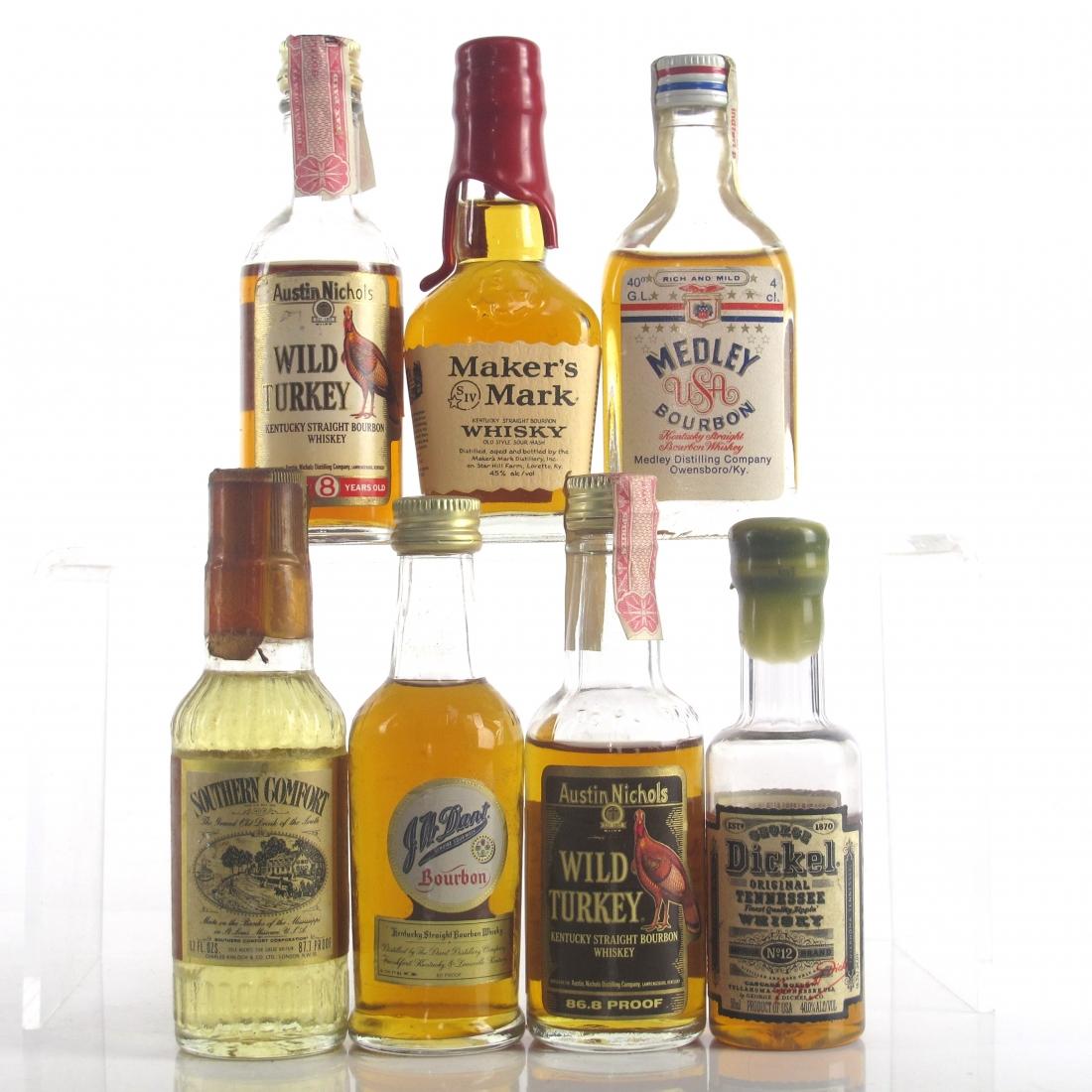 Miscellaneous Bourbon Miniature Selection x 7 / includes J.W. Dant
