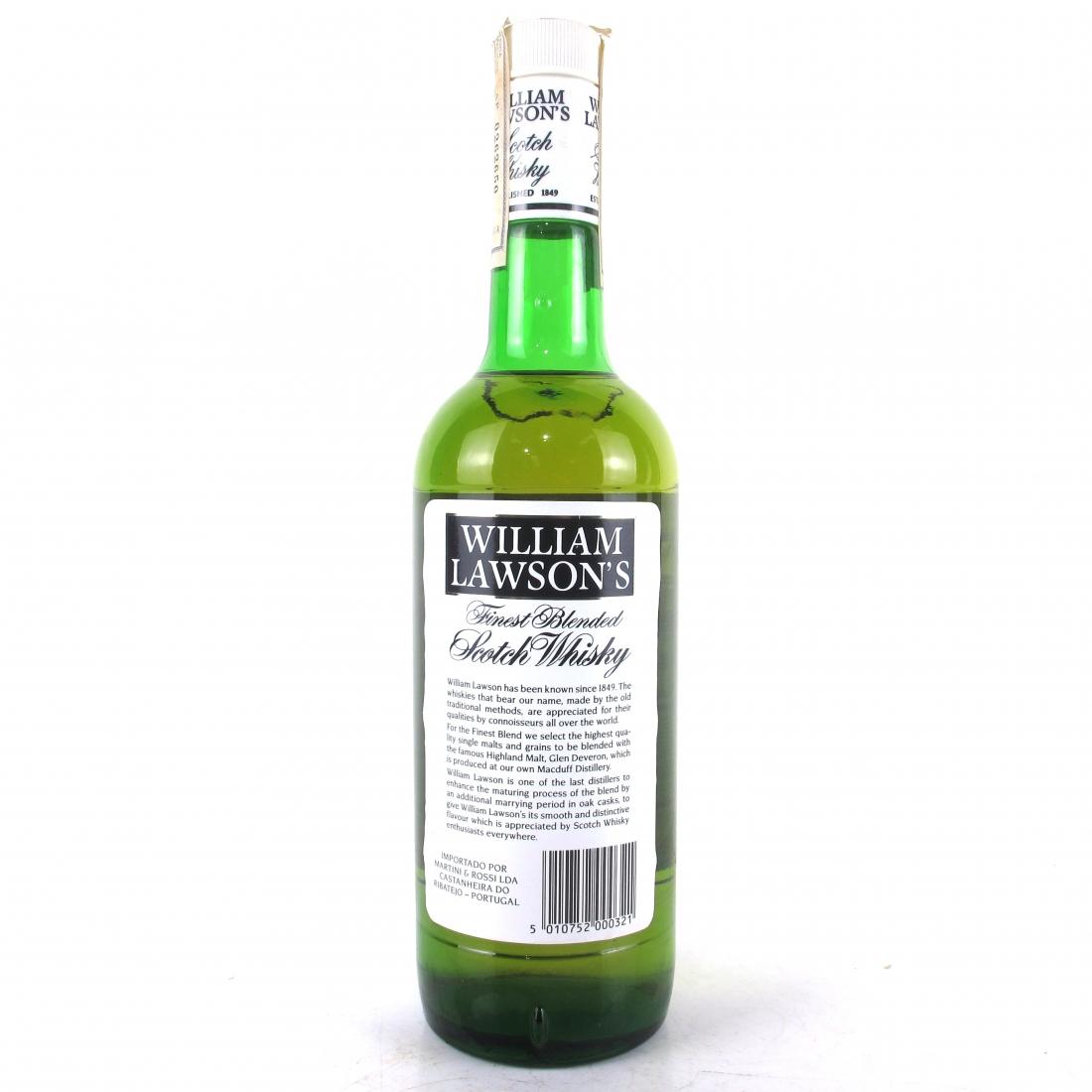 William Lawson's Finest Scotch Whisky 1980s / Martini & Rossi Import