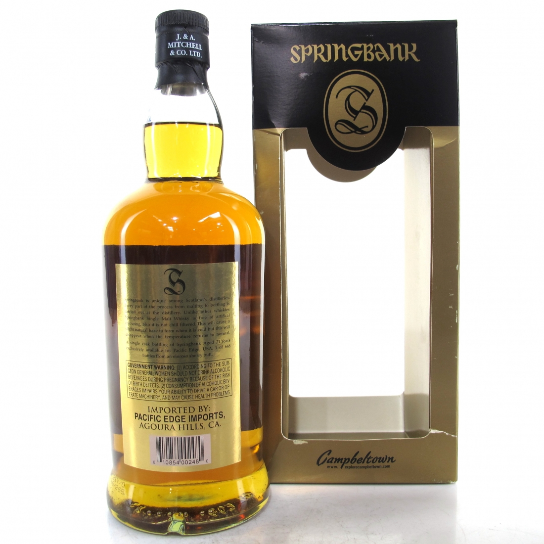 Springbank 21 Year Old Single Cask 75cl / US Import