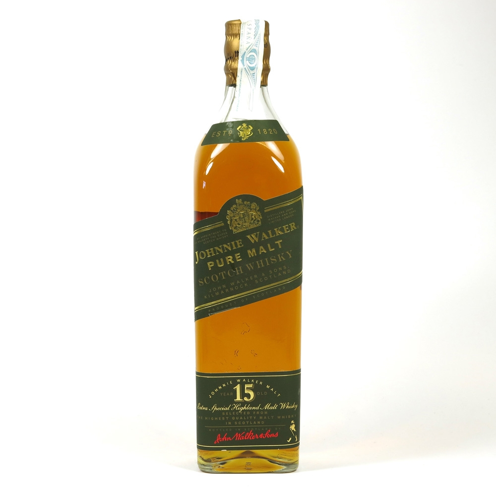 Johnnie Walker Green Label 15 Year Old 1990s Front