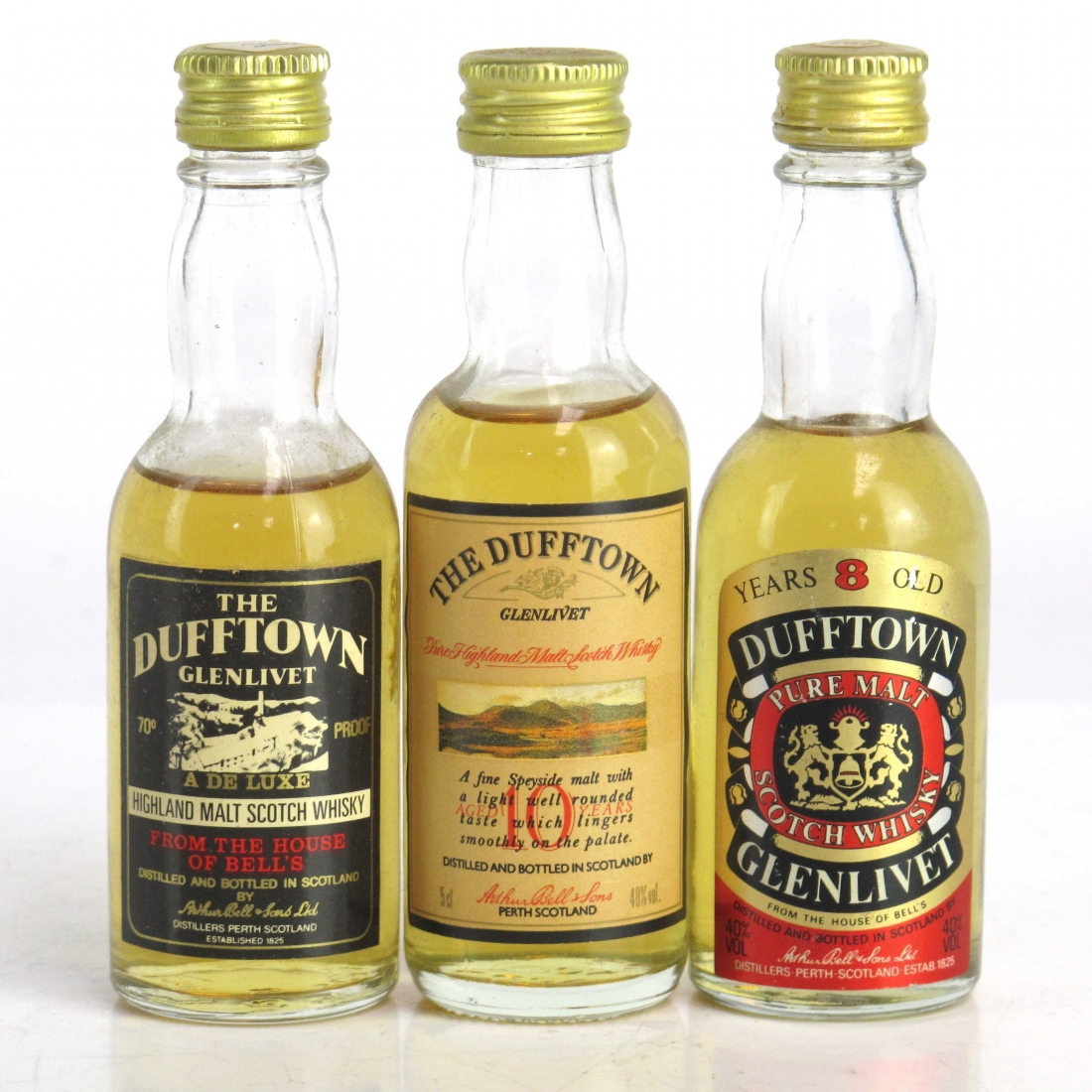Dufftown Selection 3 x Miniature