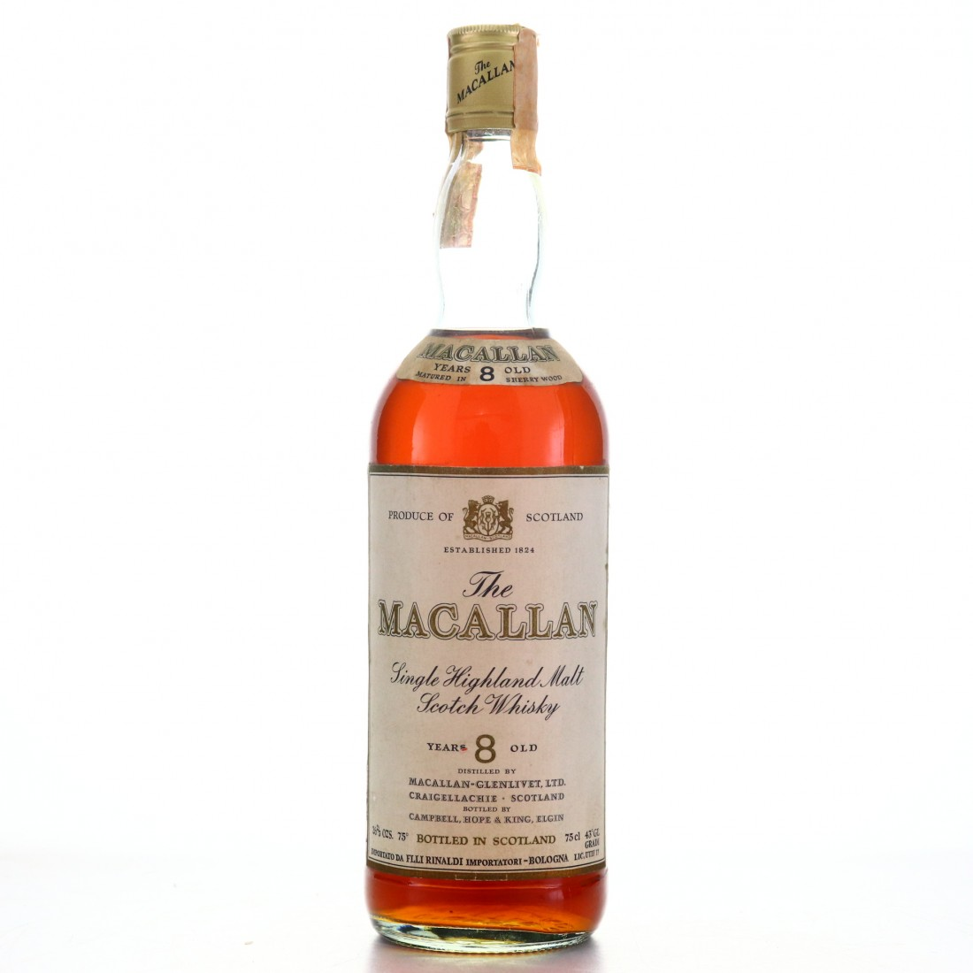 Macallan 8 Year Old Campbell, Hope and King 1970s / Rinaldi Import