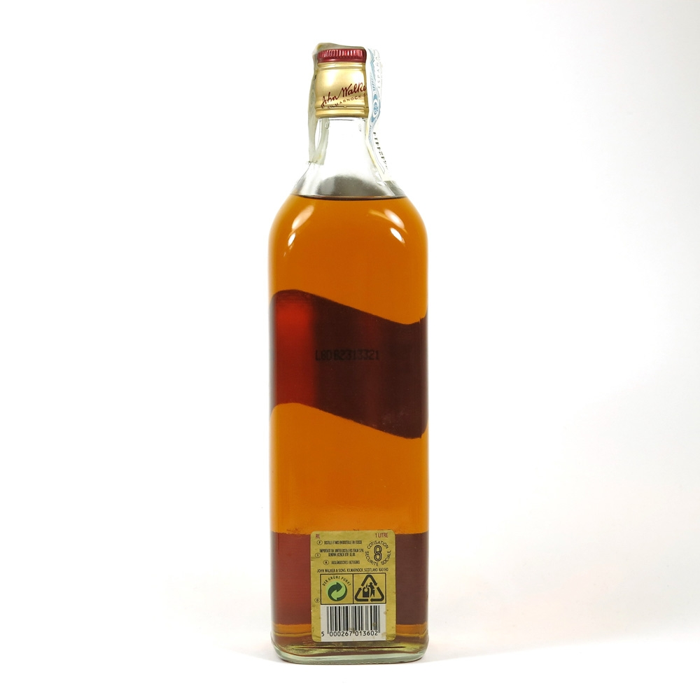 Johnnie Walker Red Label 1 Litre Back