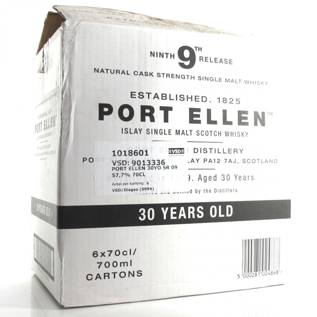 Port Ellen 1979 30 Year Old 9th Release 6 x 70cl