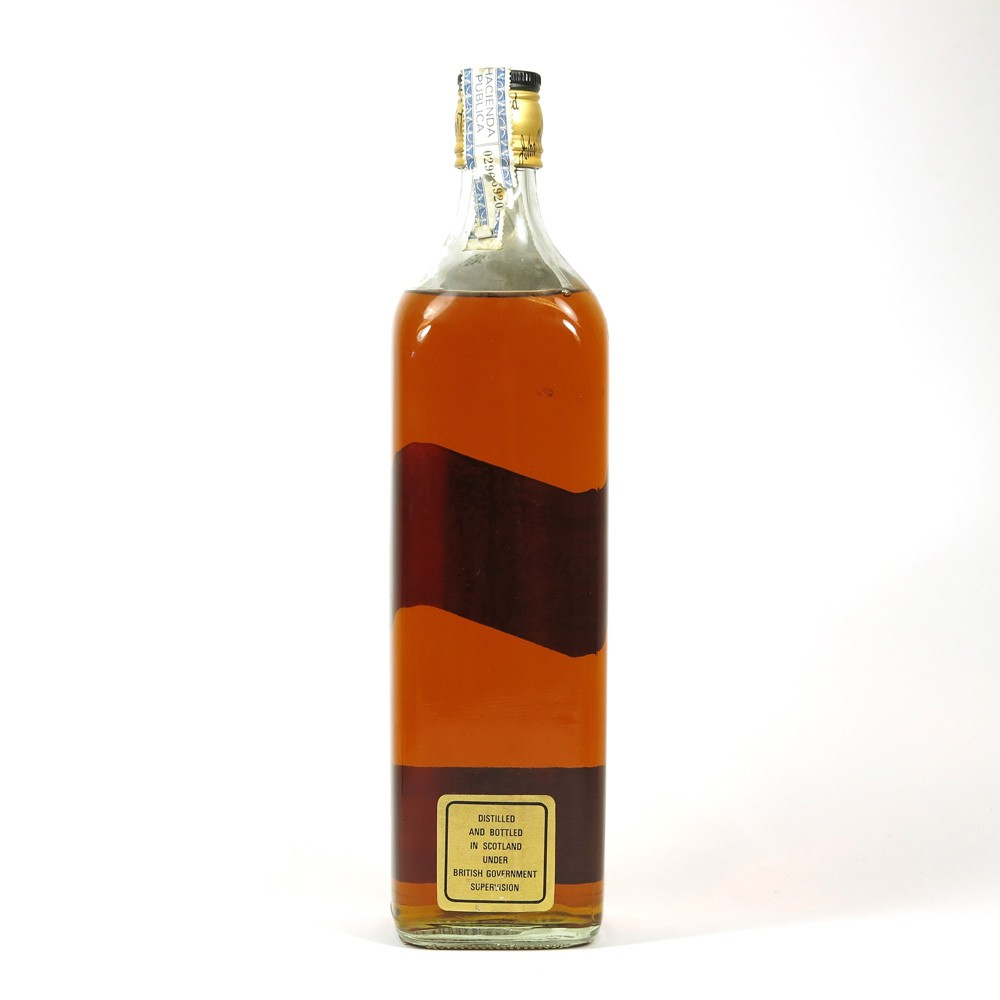 Johnnie Walker Black Label 12 Year Old King Size 1980s / 93.75 Cl Back