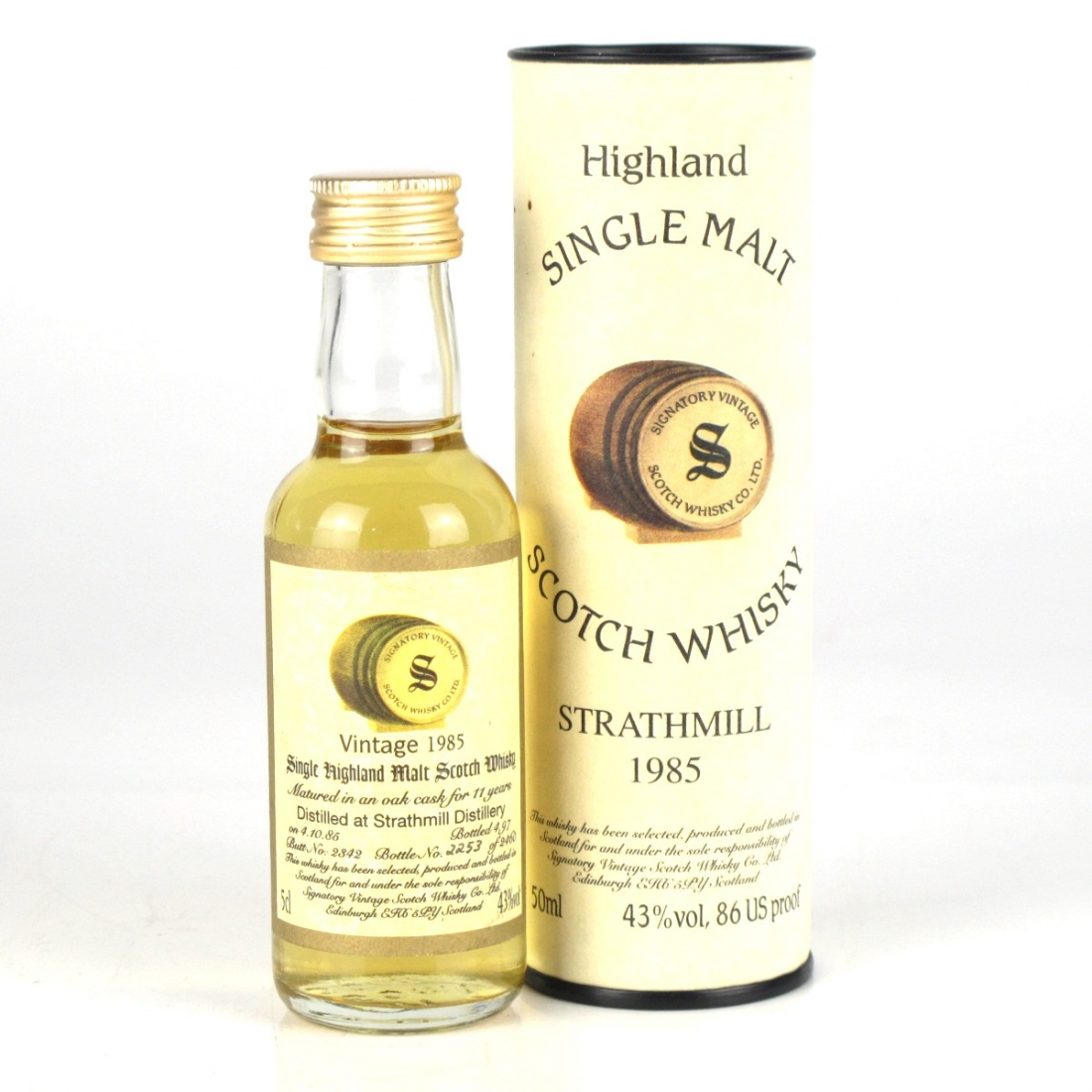 Strathmill 1985 Signatory Vintage 11 Year Old Miniature 5cl