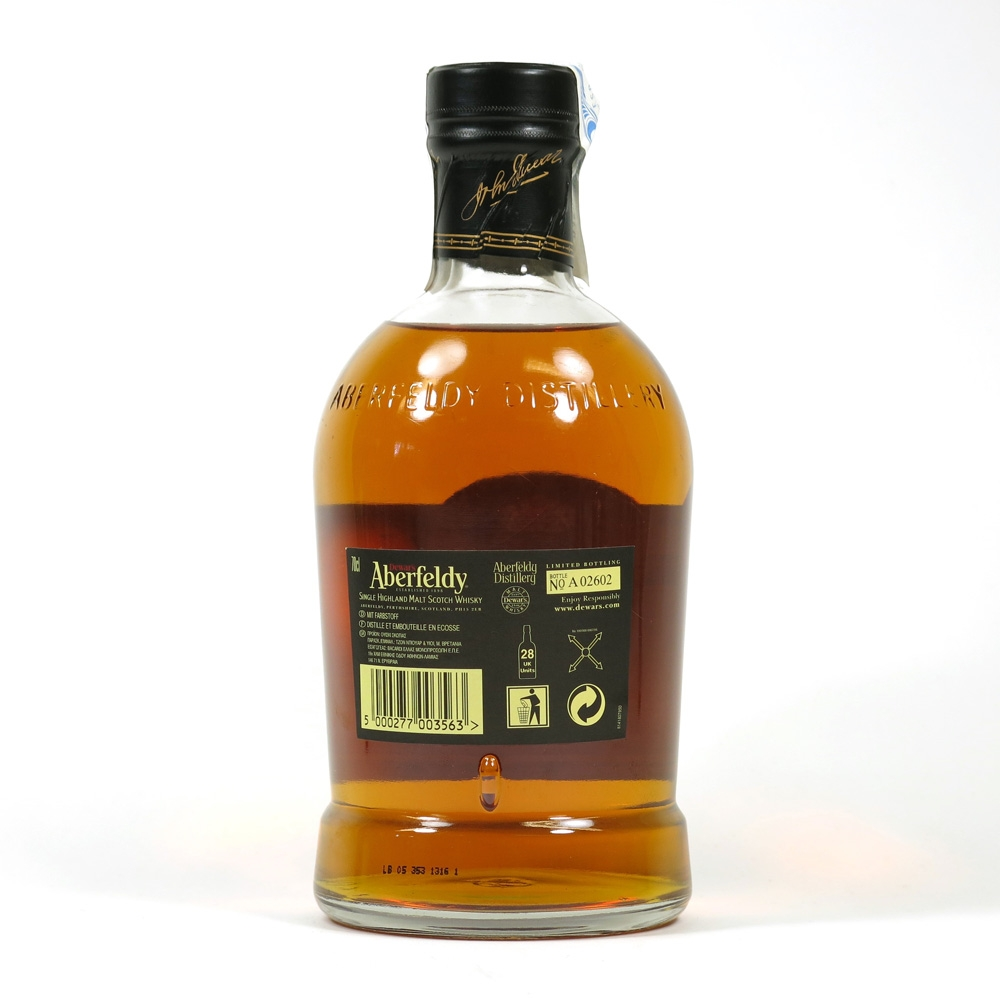 Aberfeldy 21 Year Old Back