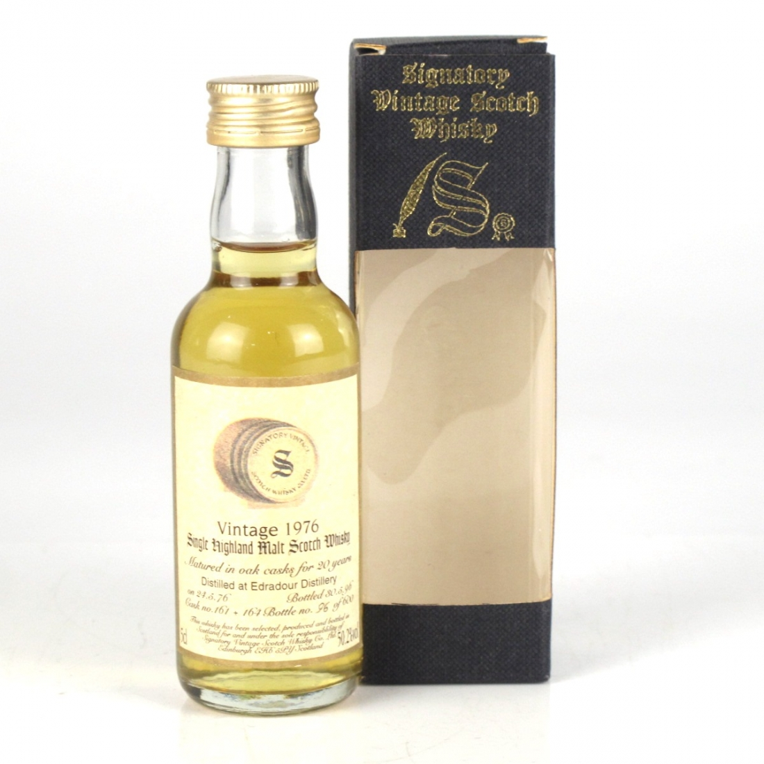 Edradour 1976 Signatory Vintage 20 Year Old Miniature 5cl