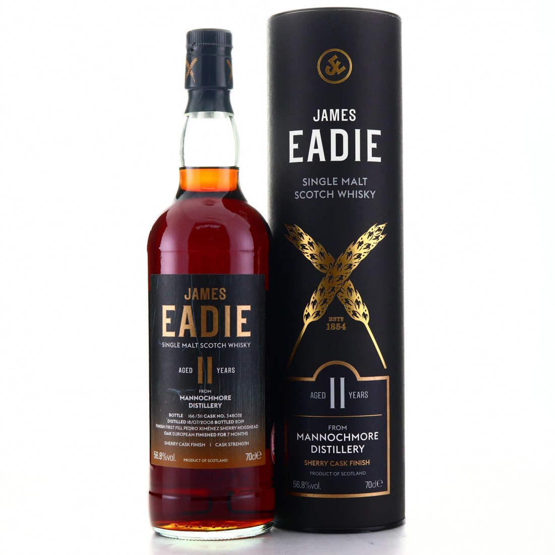 Mannochmore 2008 James Eadie 11 Year Old Sherry Finish