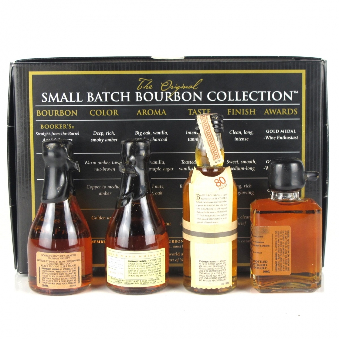 Small Batch Bourbon Miniature Selection 4 x 5cl / Including Booker's and Baker's 7 Year Old