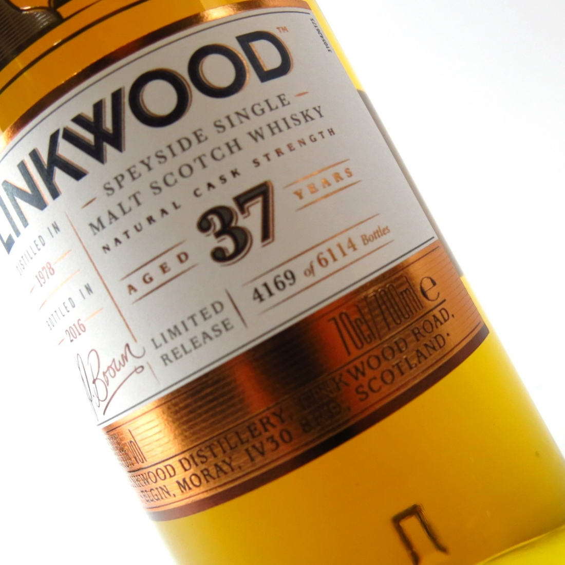 Linkwood 1978 Cask Strength 37 Year Old