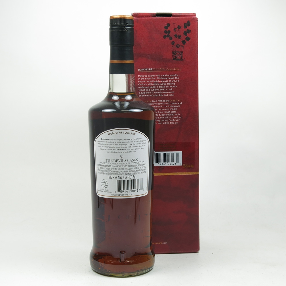 Bowmore Devil's Cask 10 Year Old Batch #2 Back
