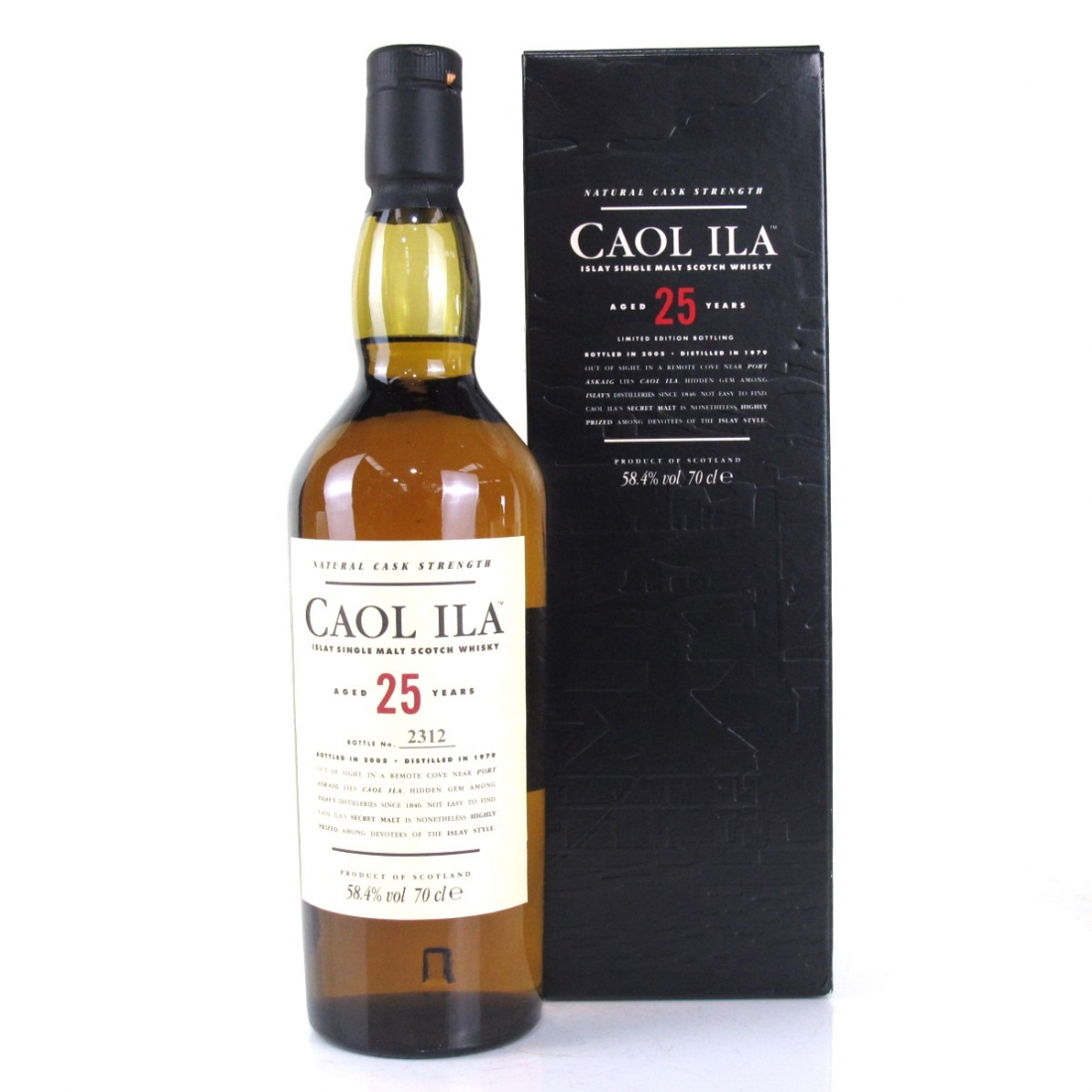 Caol Ila 1979 Cask Strength 25 Year Old 2005 Release