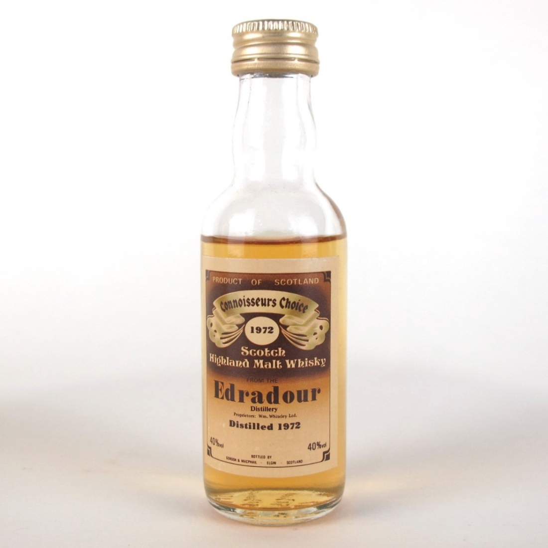 Edradour 1972 Gordon and MacPhail 10 Year Old / Including Matching Miniature