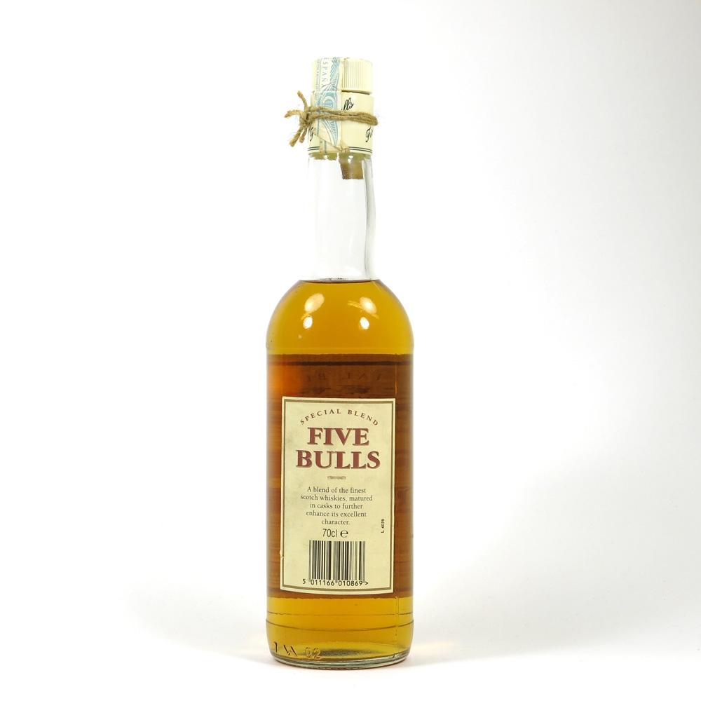 Five Bulls Scotch Whisky Back