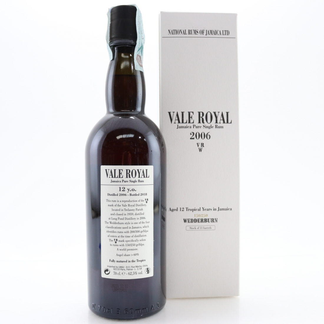 Long Pond 2006 Vale Royal 12 Year Old Wedderburn Rum