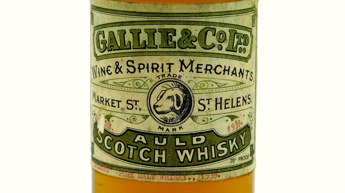 Dalmore 1939 Gallie & Co label