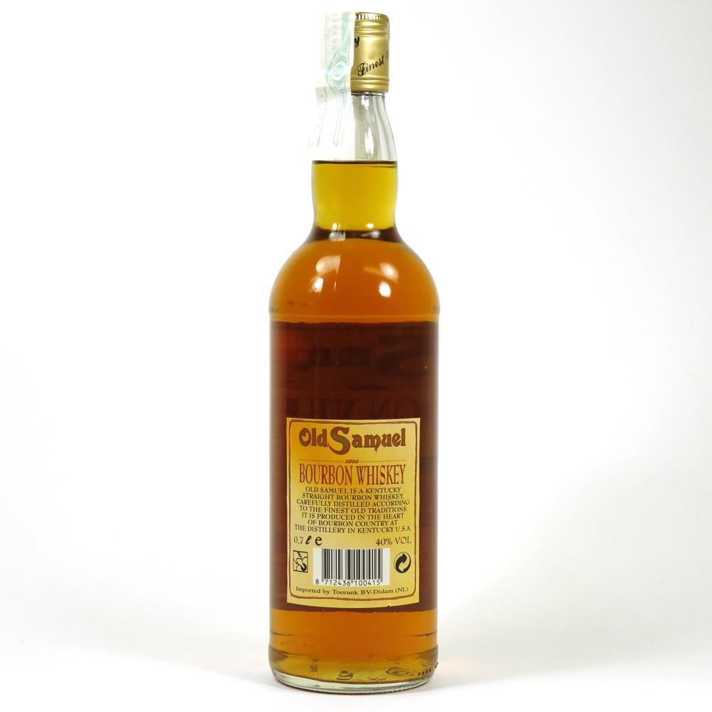 Old Samuel Bourbon Whiskey Back