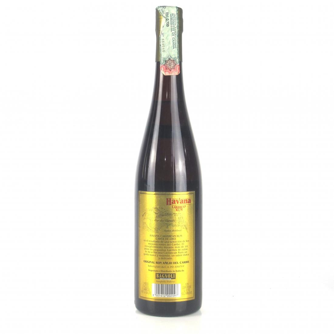 Havana 10 Year Old Caribbean Rum / Italian Import