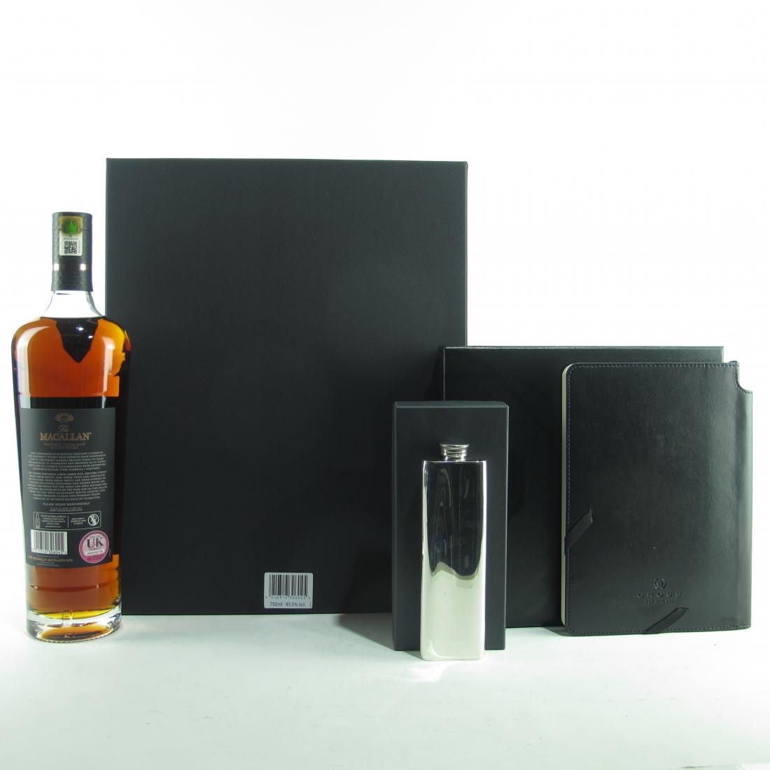 Macallan Genesis / with Pewter Flask & Writing Set