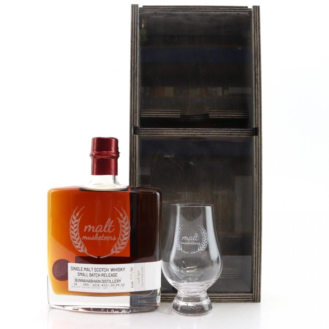 Bunnahabhain 1991 Malt Musketeers 26 Year Old 35cl / Including Glass
