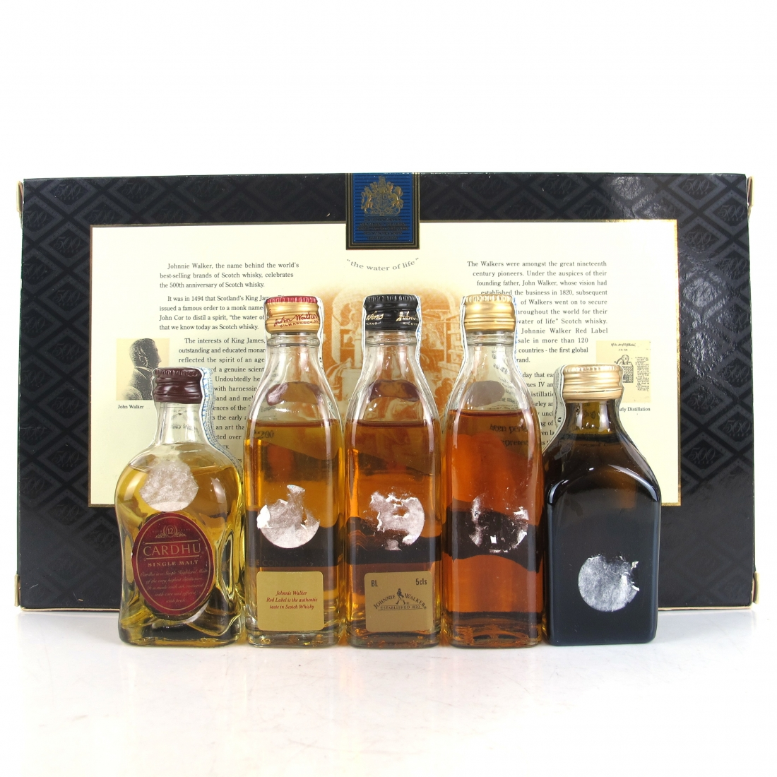 Johnnie Walker 500 Years Special Collection Miniatures 5 x 5cl