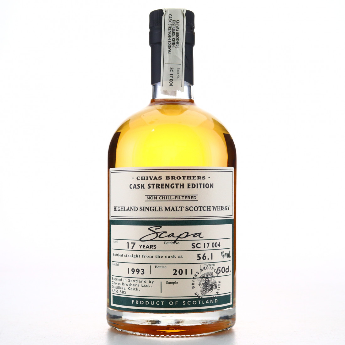Scapa 1993 Cask Strength 17 Year Old Batch #4