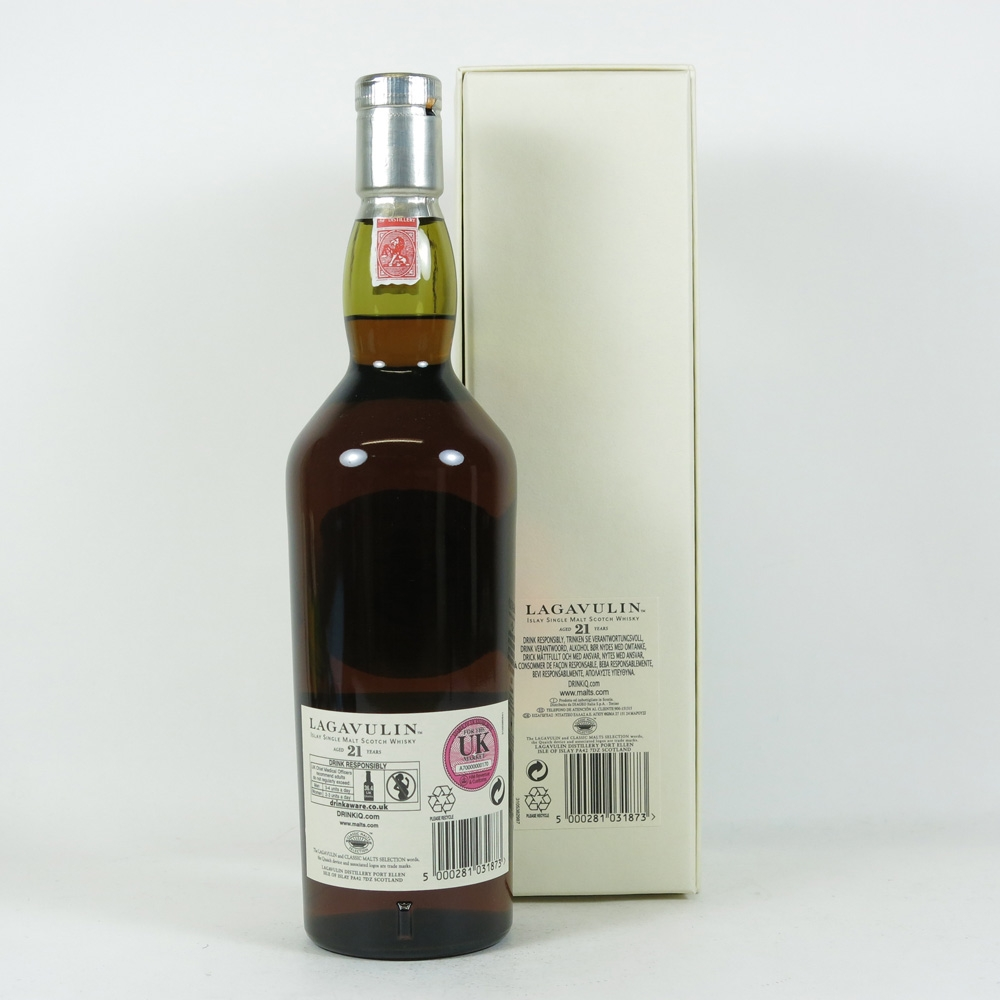 Lagavulin 21 Year Old 1991 Back
