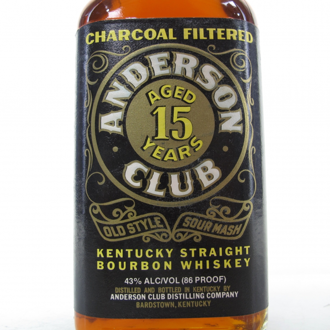 Anderson Club 15 Year Old Kentucky Bourbon 1990s
