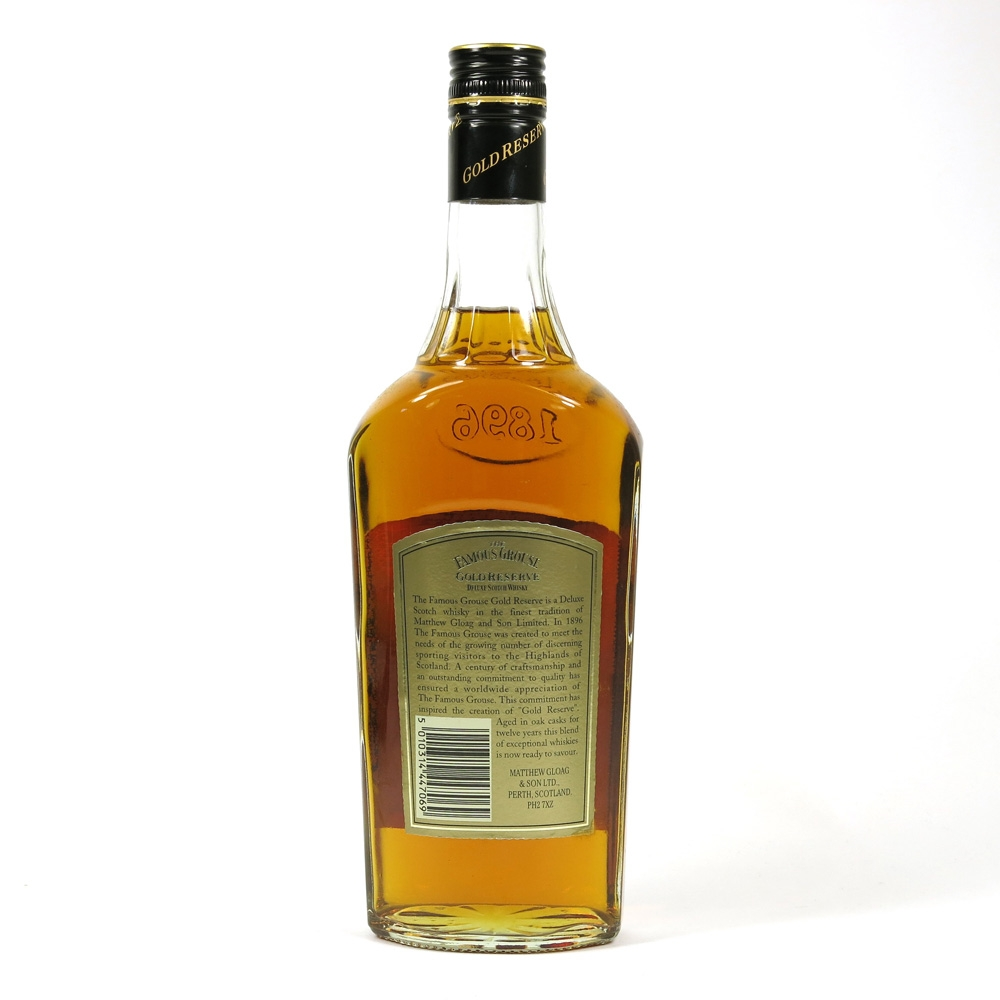Famous Grouse 12 Year Old Gold Reserve Back