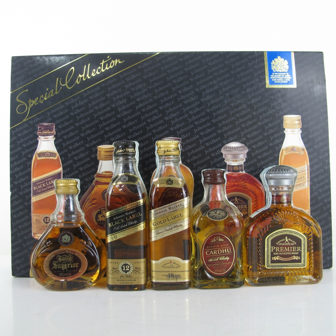 Johnnie Walker Special Collection Miniatures 5 x 5cl