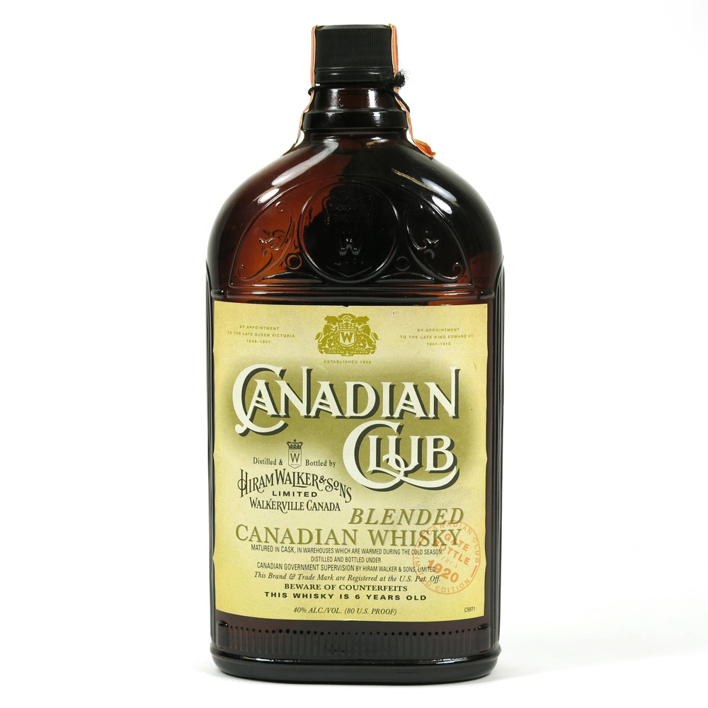 Canadian Club Prohibition Limited Edition Gate Bottles / Replica 1920 Front