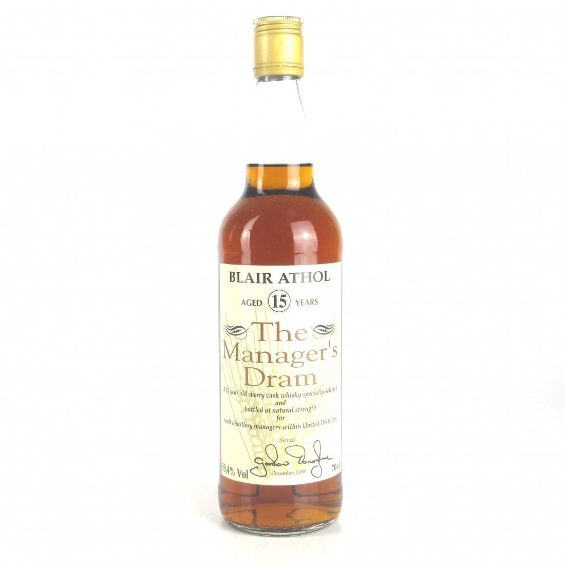 Blair Athol 15 Year Old Manager's Dram 1996
