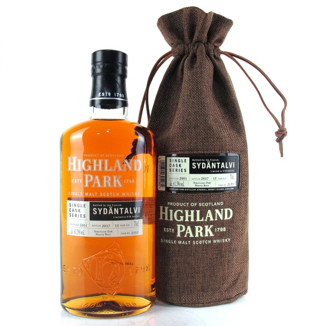 Highland Park 2001 Single Cask 15 Year Old #2155 / Sydantalvi