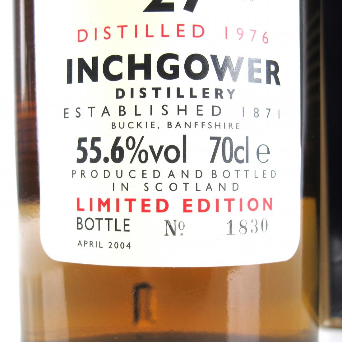 Inchgower 1976 Rare Malt 27 Year Old / 55.6%