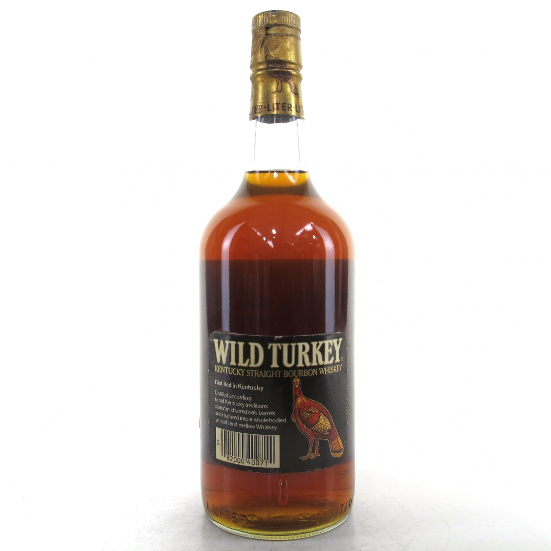 Wild Turkey Kentucky Straight Bourbon 1 Litre 1980s