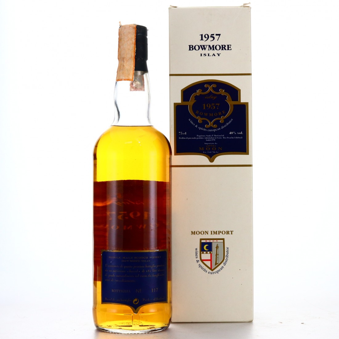 Bowmore 1957 Moon Import / Crest Label