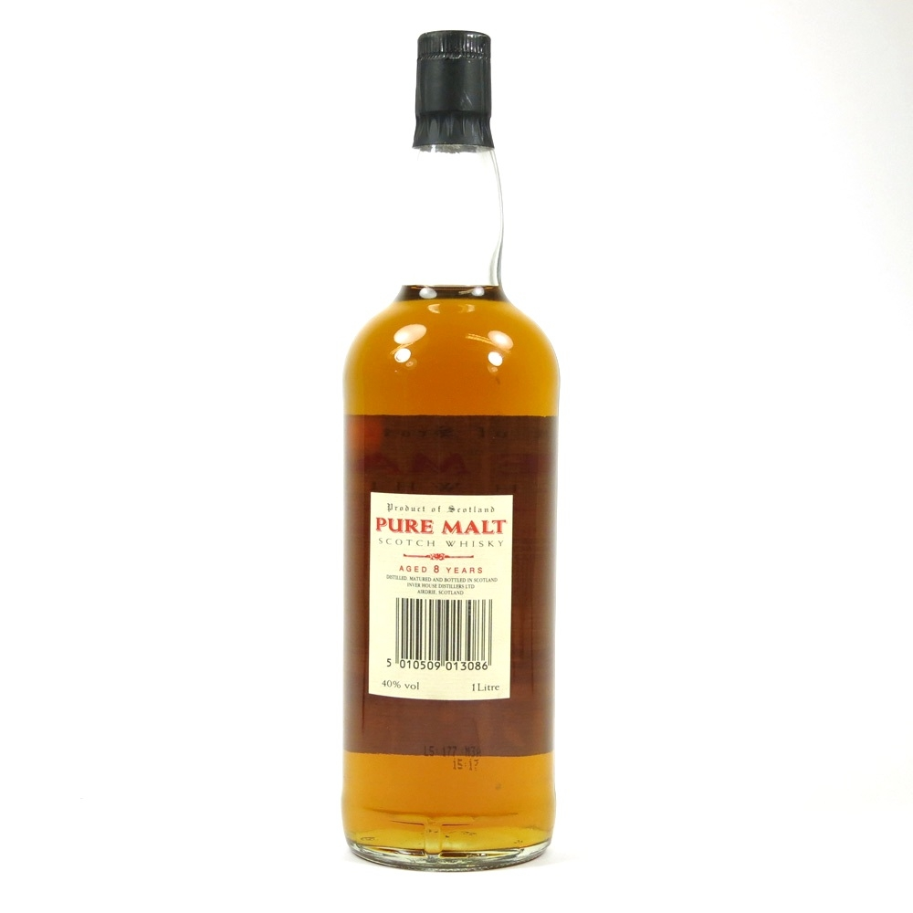 Inverhouse 8 Year Old Pure Malt 1 Litre Back