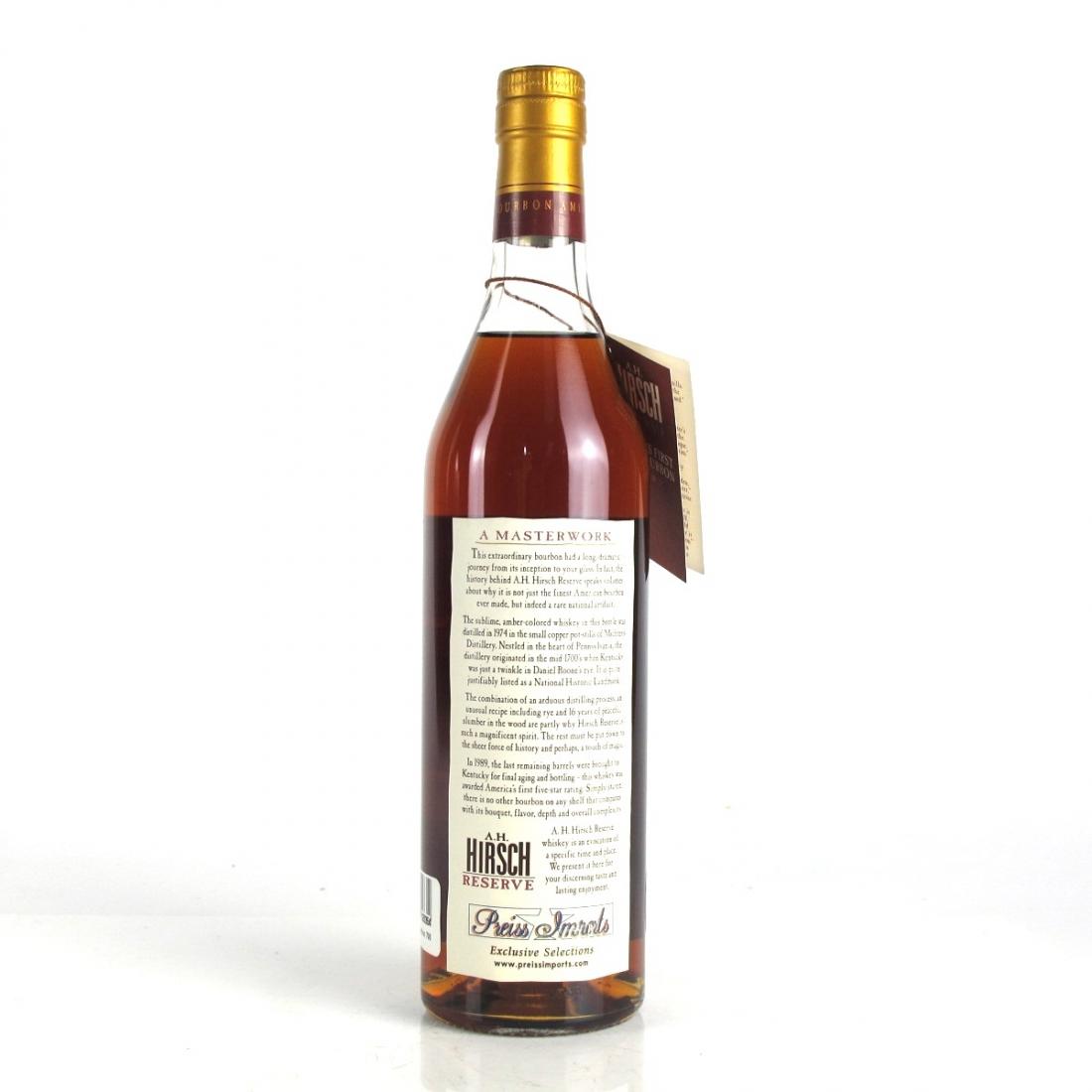 Hirsch Reserve 1974 16 Year Old Bourbon / 2003 Release