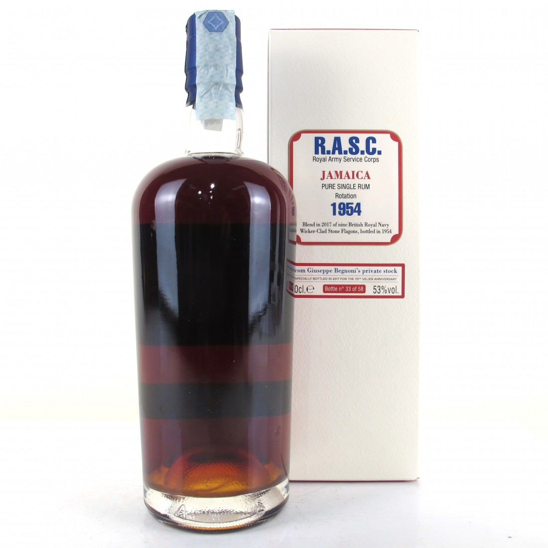 Royal Army Service Corps 1954 Jamaica Rum / Velier 70th Anniversary