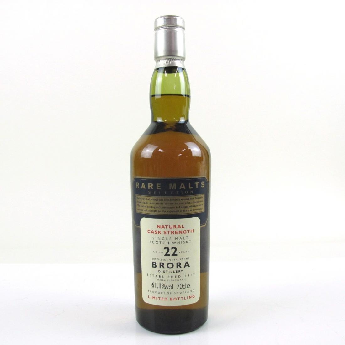 Brora 1972 Rare Malt 22 Year Old / 61.1%