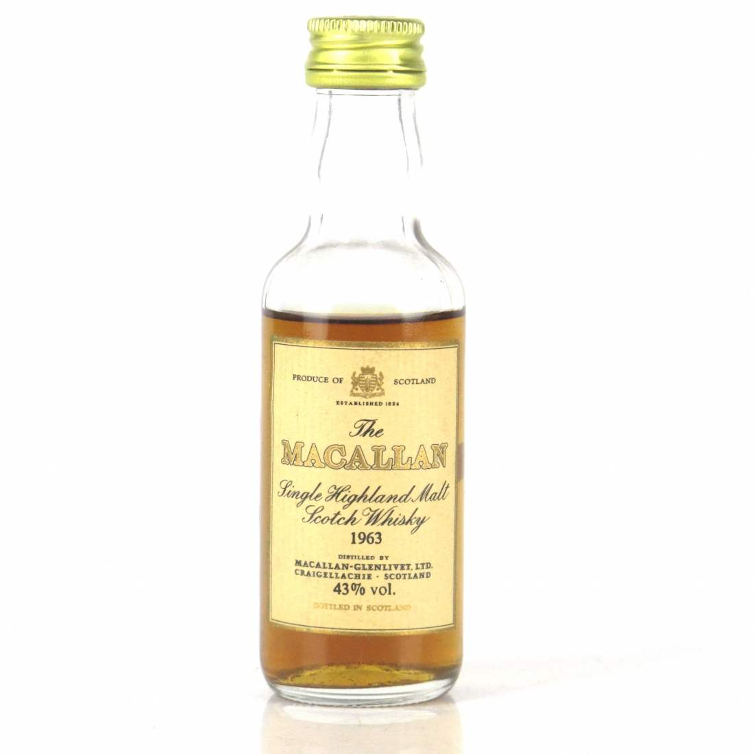 Macallan 18 Year Old 1963 Miniature 5cl