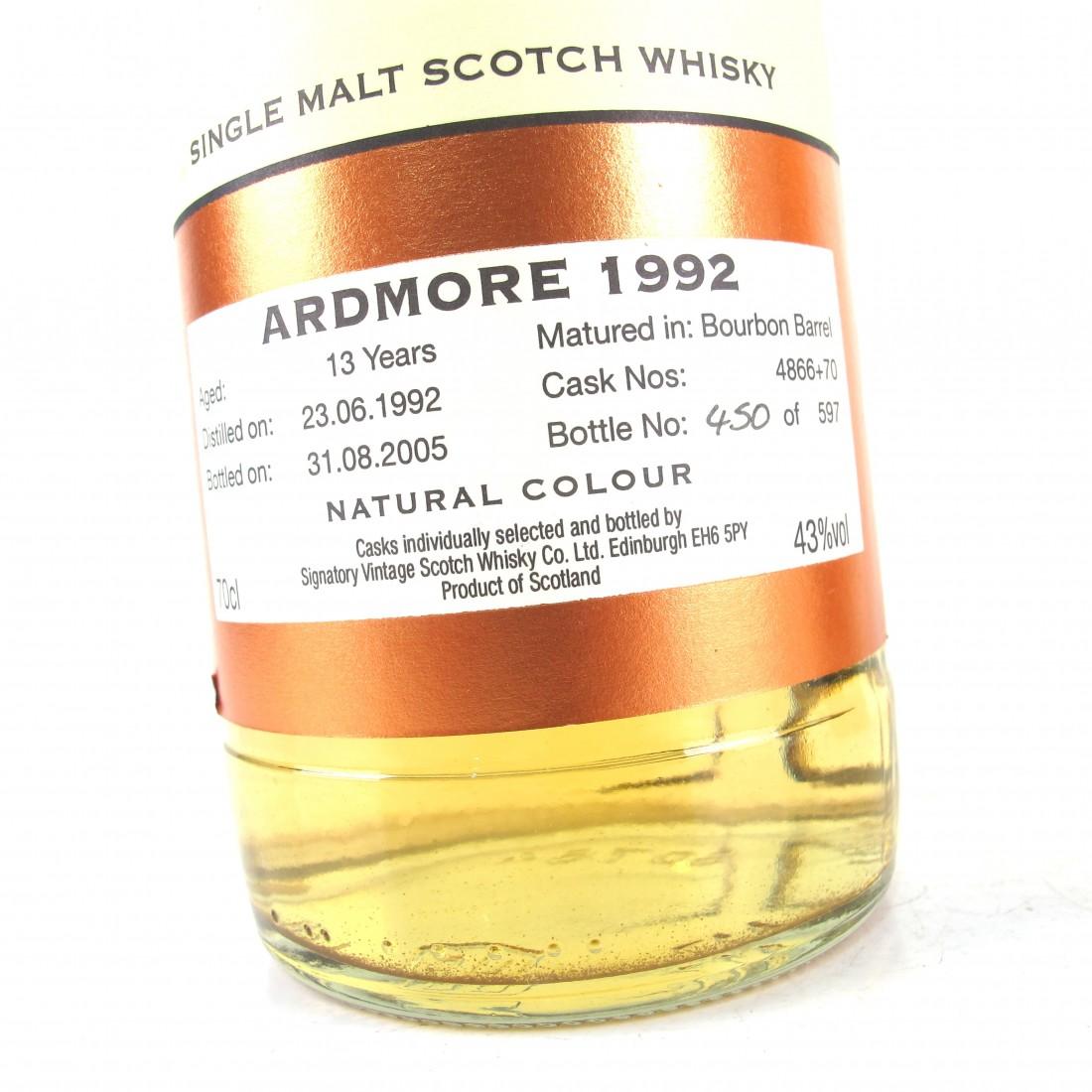 Ardmore 1992 Signatory Vintage 13 Year Old