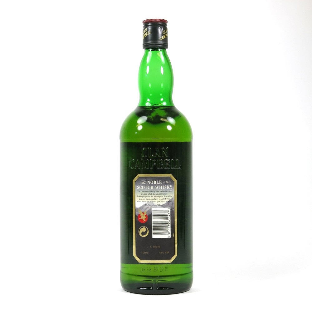Clan Campbell Noble Scotch Whisky Back