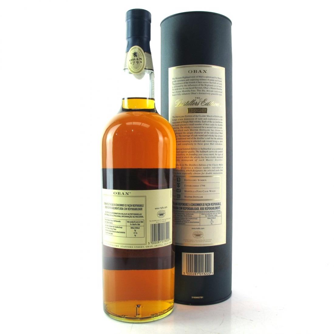 Oban 1996 Distillers Edition 1 Litre