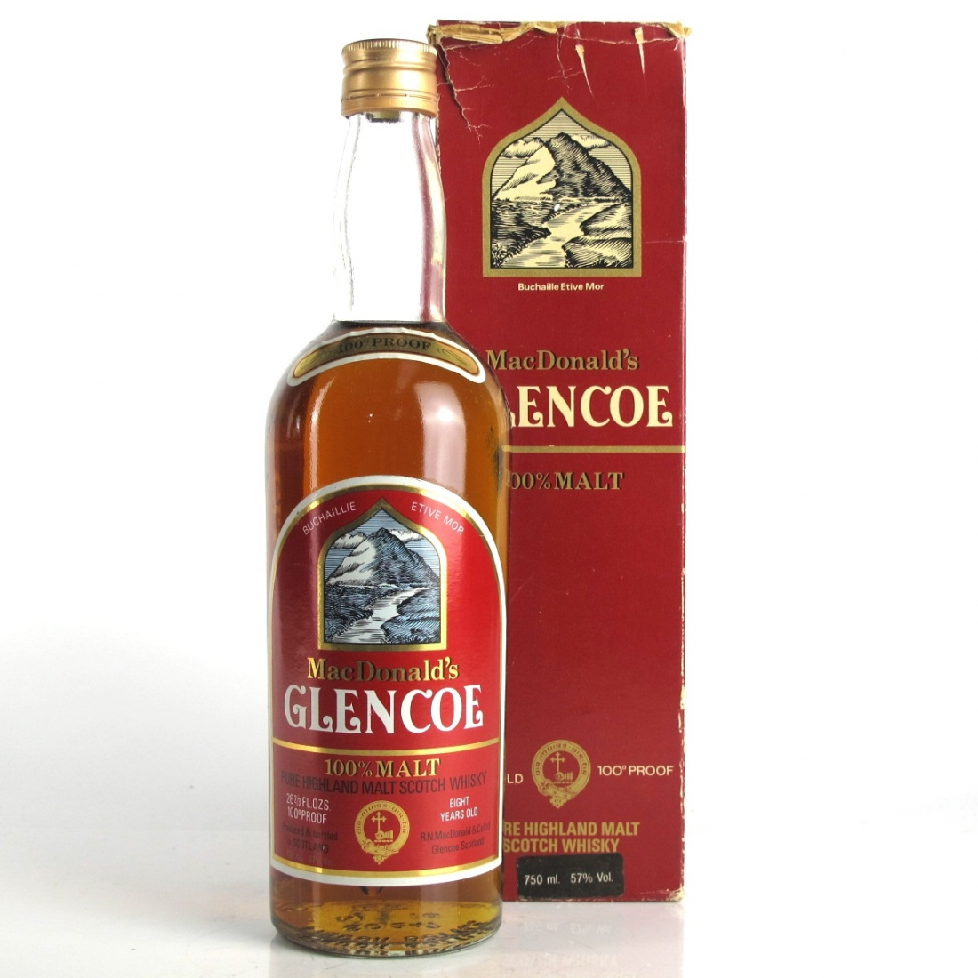 MacDonald's Glencoe 8 Year Old 100 Proof 1980s