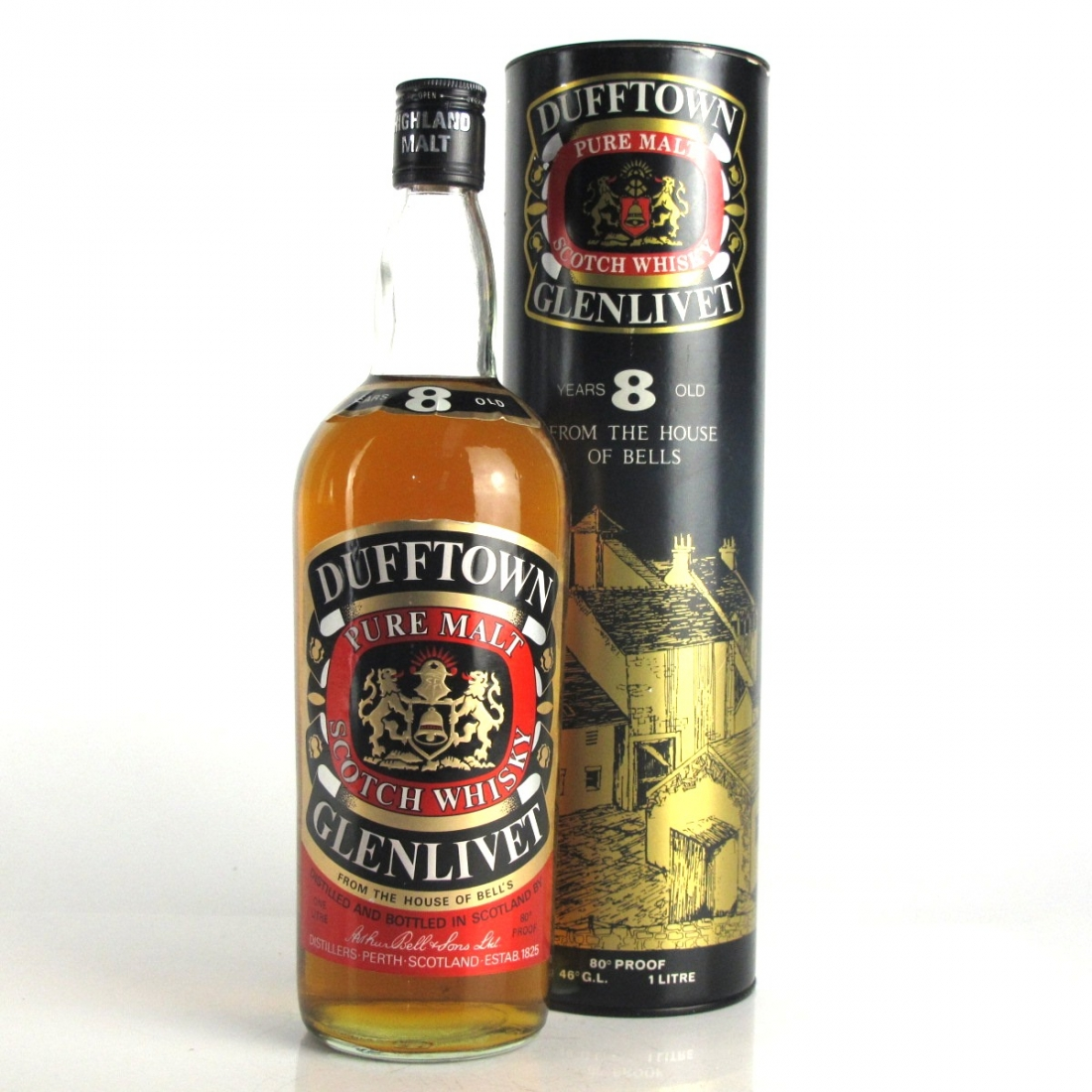 Dufftown 8 Year Old 1 Litre 1980s